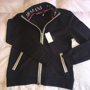 Armani Jeans Men zip-up sweater (NWT)